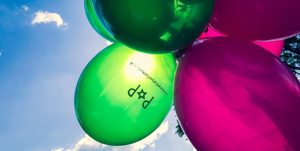 Pop Star Performers Birthday Balloons