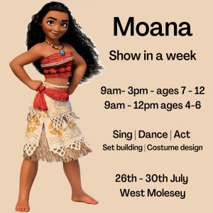 Moana Performance week